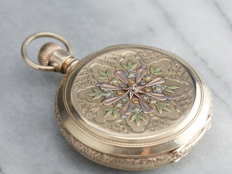 Victorian Signet Ornate Pocket Watch