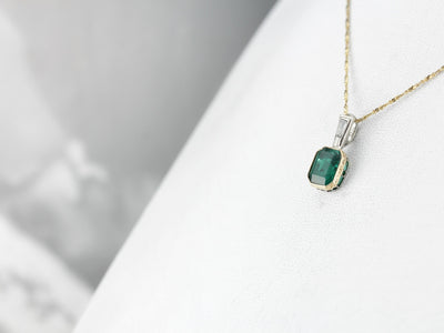 Fine Emerald and Diamond Pendant