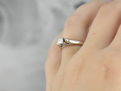 High Profile Diamond Solitaire Engagement Ring