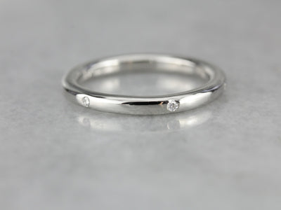 Diamond Etoile Platinum Wedding Band