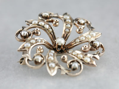 Victorian Pearl Brooch or Pendant