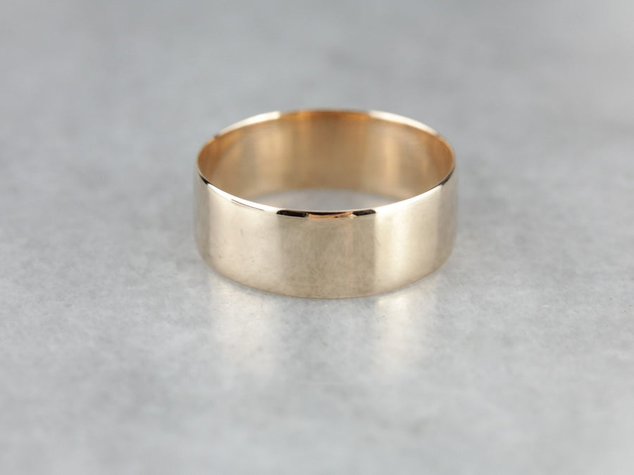 Metal: 14K Rose Gold Width of Band: 6.9 mm Height off Finger...