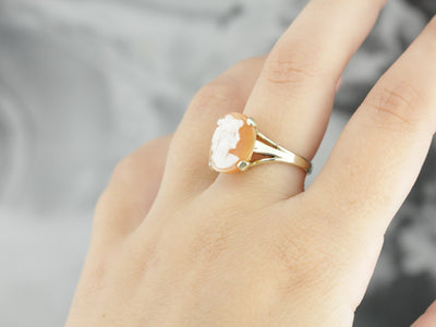 Vintage Cameo Cocktail Ring