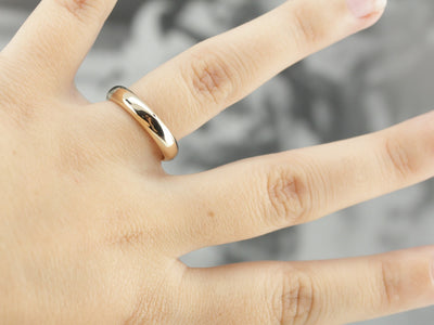 Antique Yellow Gold Plain Wedding Band