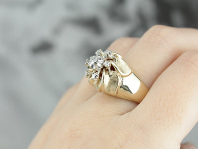 Dramatic Diamond Statement Ring