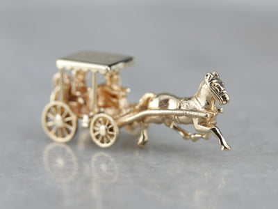 Horse and Carriage Bermuda Keepsake Charm