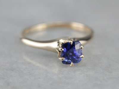 Gorgeous Royal Blue Sapphire Solitaire Ring