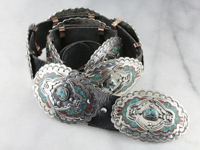 Collectors Native American Billy Slim Concho Belt