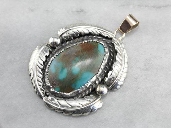 Native American Turquoise Statement Pendant