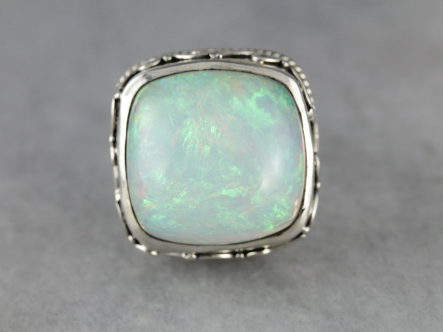 Outstanding Fine Opal Cocktail Ring