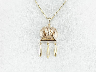 Victorian Antique Gold Drop Pendant