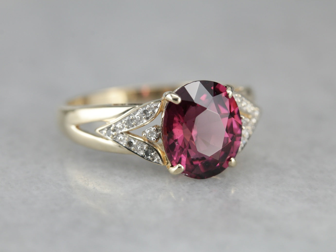 lohaspie rose from vintage rings wedding jewelry flower s ring item in women fine gemstone solid garnet gold rhodolite natural diamond for
