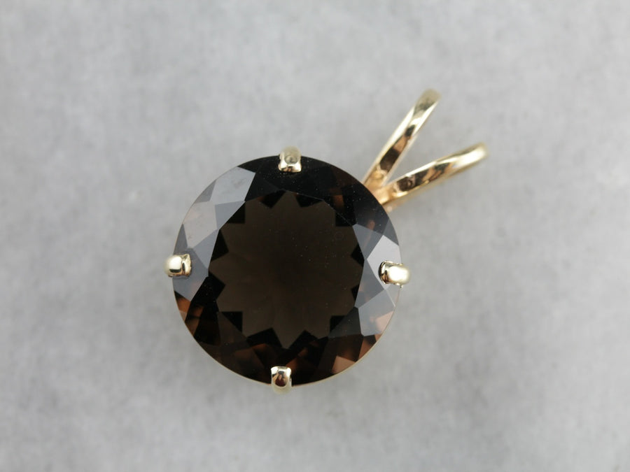 Round Smoky Quartz Cocktail Pendant