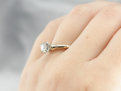 European Cut Diamond Engagement Ring