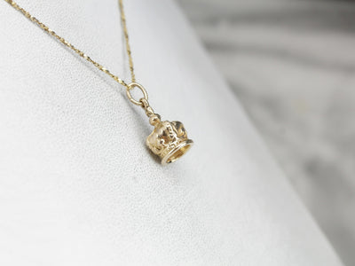 Royal Crown Gold Charm