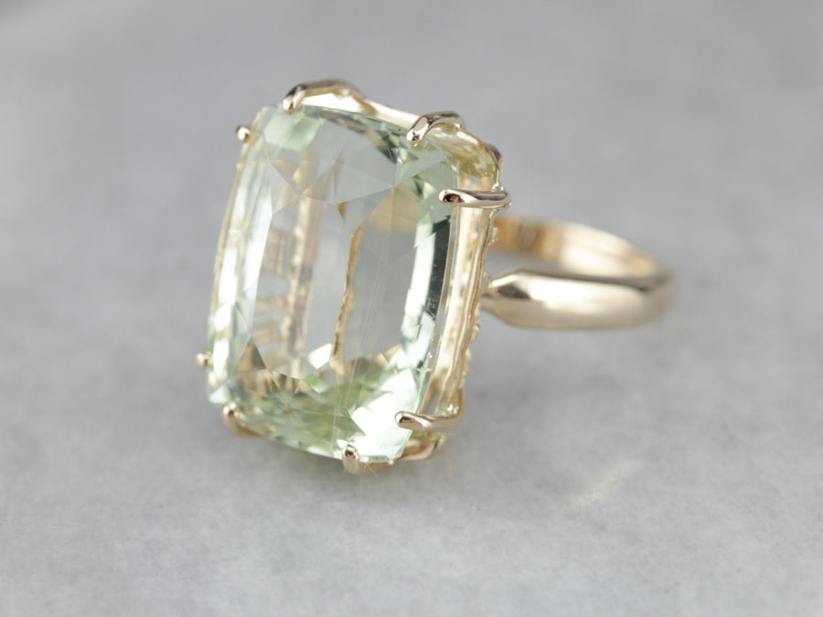 Glamorous Sillimanite Statement Ring