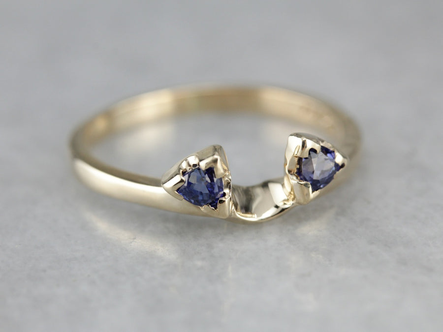 Sapphire Solitaire Enhancer Band
