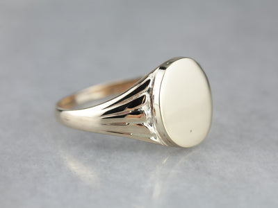 Classic Yellow Gold Signet Ring