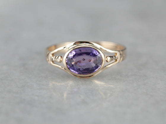 Fantastic Color Change Sapphire Ring