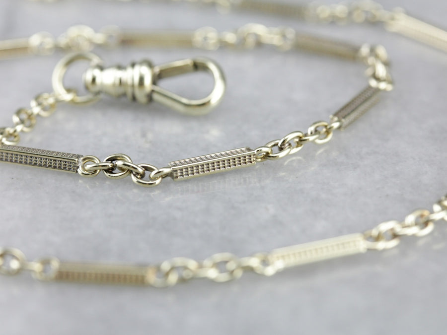 Vintage Pocket Watch Chain in Yellow Gold
