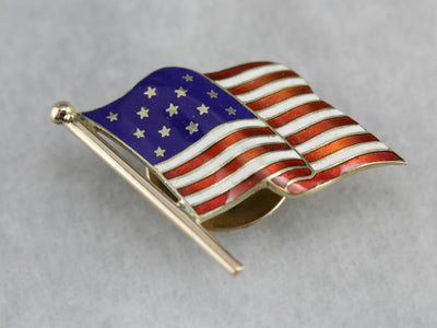 Men's American Flag Shirt Stud