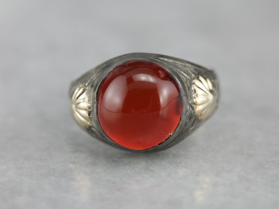 Carnelian Mix Metal Ring