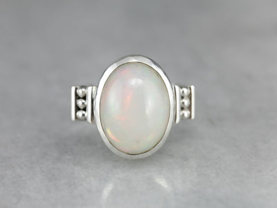 Sterling Silver Opal Cocktail Ring
