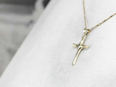 Polished Yellow Gold Cross