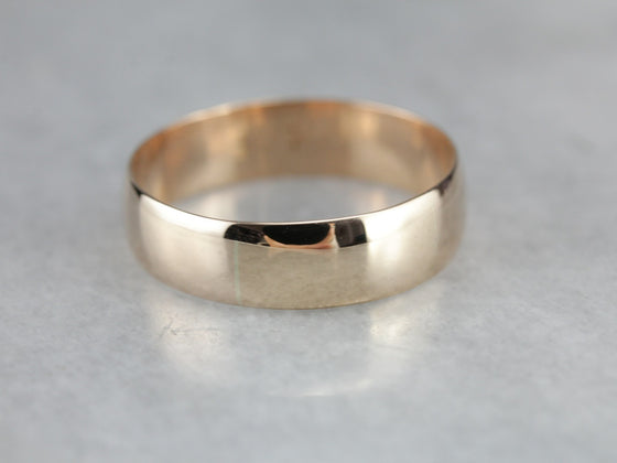 Men's Rose Gold Wedding Band