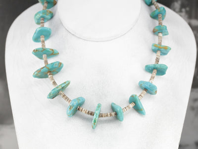 Heishi Shell Turquoise Beaded Necklace