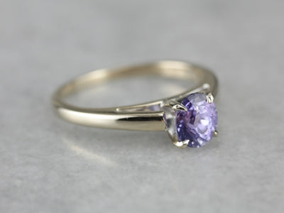 Lavender Sapphire Solitaire Ring