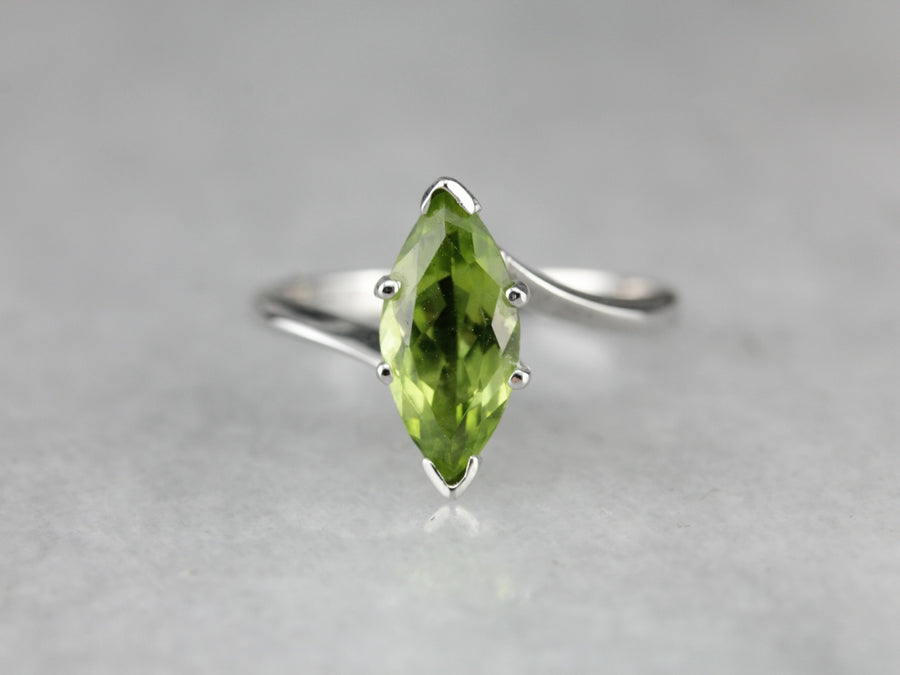 Marquise Peridot Cocktail Ring