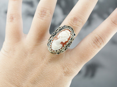 Spanish Cameo Cocktail Ring
