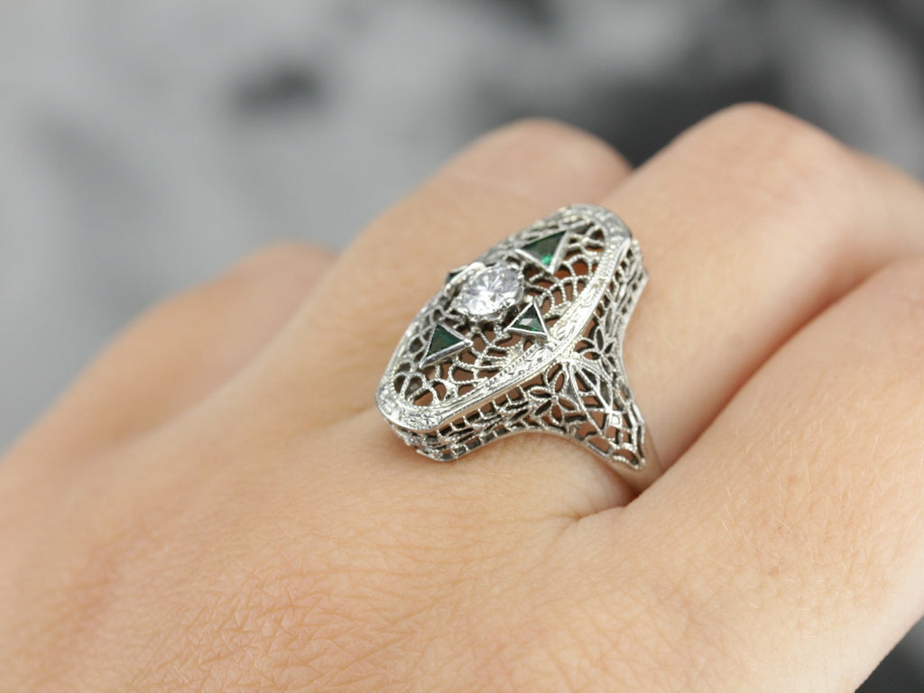 Antique Diamond Filigree Ring