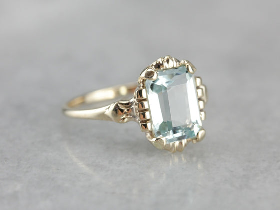 Vintage Aquamarine Gold Cocktail Ring