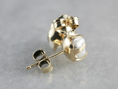 Natural Mississippi Pearl Stud Earrings