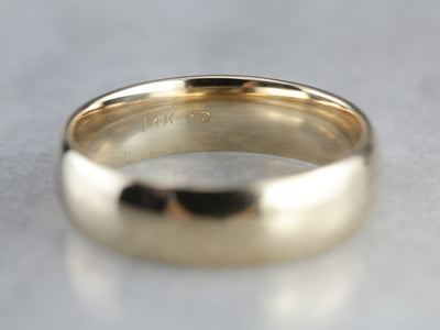 Yellow Gold Men's Wedding Band