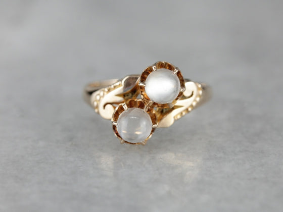 Victorian Moonstone Ring in Yellow Gold