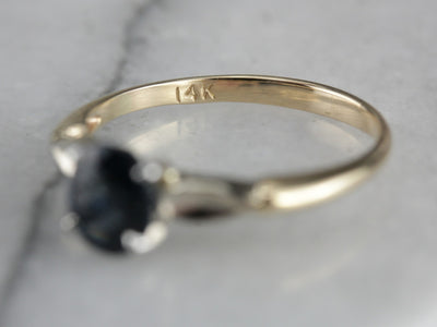 Spinel Solitaire Mix Metal Ring