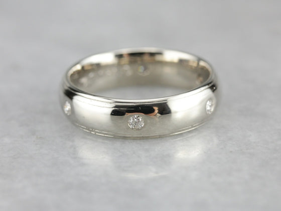Diamond Etoile Wedding Band