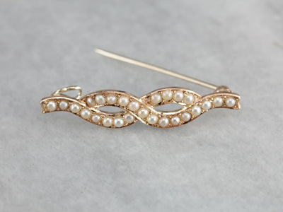 Antique Seed Pearl Pin