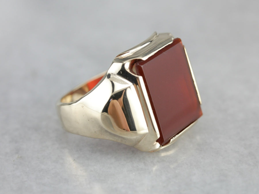 Retro Era Carnelian Men's Ring