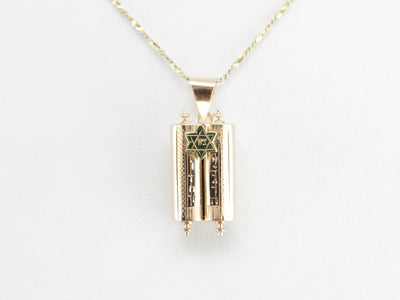 Vintage Torah Scroll Pendant