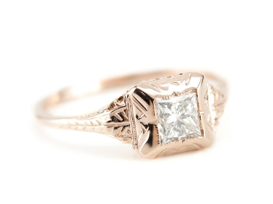 Diamond Engagement Ring in The Elwyn Setting from The Elizabeth Henry Collection