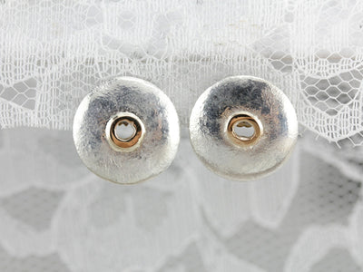 Silver and Gold Stud Earrings