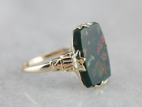 Retro Era Bloodstone Ring