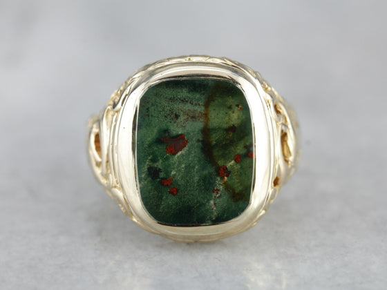 Men's Victorian Bloodstone Ring