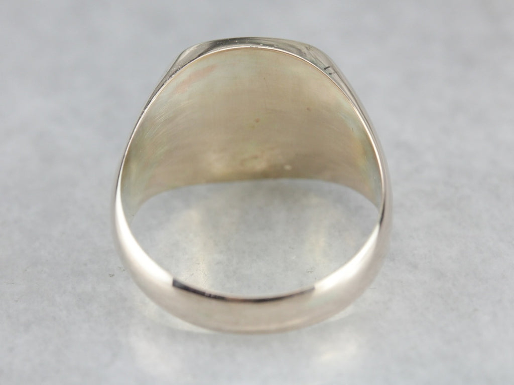 Men's Solid Gold Signet Ring