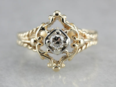 Diamond Solitaire Dinner Ring