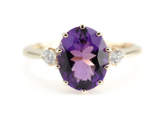 The Layla Amethyst and Diamond Ring from The Elizabeth Henry Collection